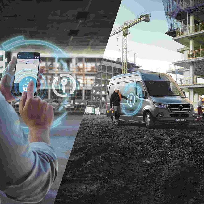 Mercedes PRO startet digitale Services für neuen Mercedes-Benz Sprinter.